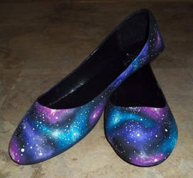 So Sorry I'm Even More Flawless Galaxy Shoes by HoneyCatJewelry