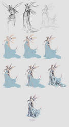 Fairy dressed in Water Step  by Step by FionaCreates