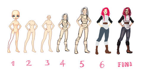 Reev Step by Step by FionaCreates