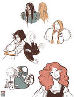 Fitz and the Fool sketches by FionaCreates