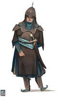 Persian Lady Knight Sketch by FionaCreates
