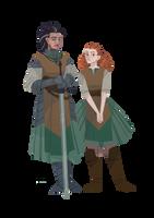 Serafina and Georgiana by FionaCreates
