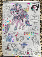 Azure Mular- Crystal Pony Reference Sheet by MLPloverDash