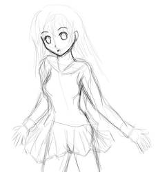 Girl sketch by raptor-tk