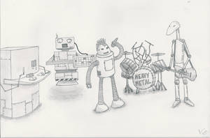 Robot Band - 'Heavy Metal' by Iddstar