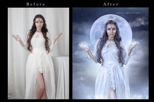 Godess Of Moon Before After  by ektapinki