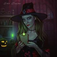 The Holloween Witch by ektapinki