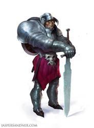 Hulking Knight by JasperSandner