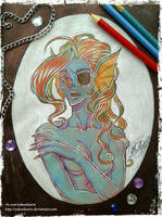 Undyne with her hair_01 by YakoAlyarin