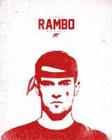 Aaron RAMBO Ramsey by manishdesigns