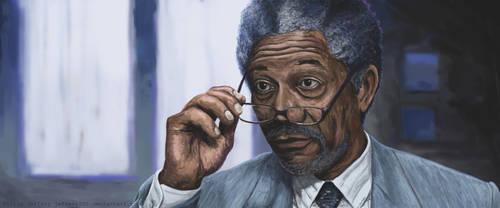Morgan Freeman by Jeffers800