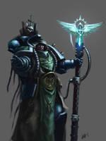 Dark Angels Librarian by Eupackardia