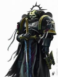 Black Templar Chaplain by Eupackardia