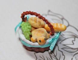 Miniature Melon Pan Basket by WaterGleam