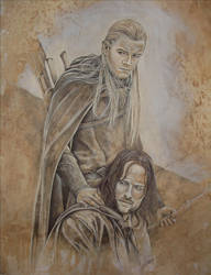 Aragorn - Legolas by cpn-blowfish