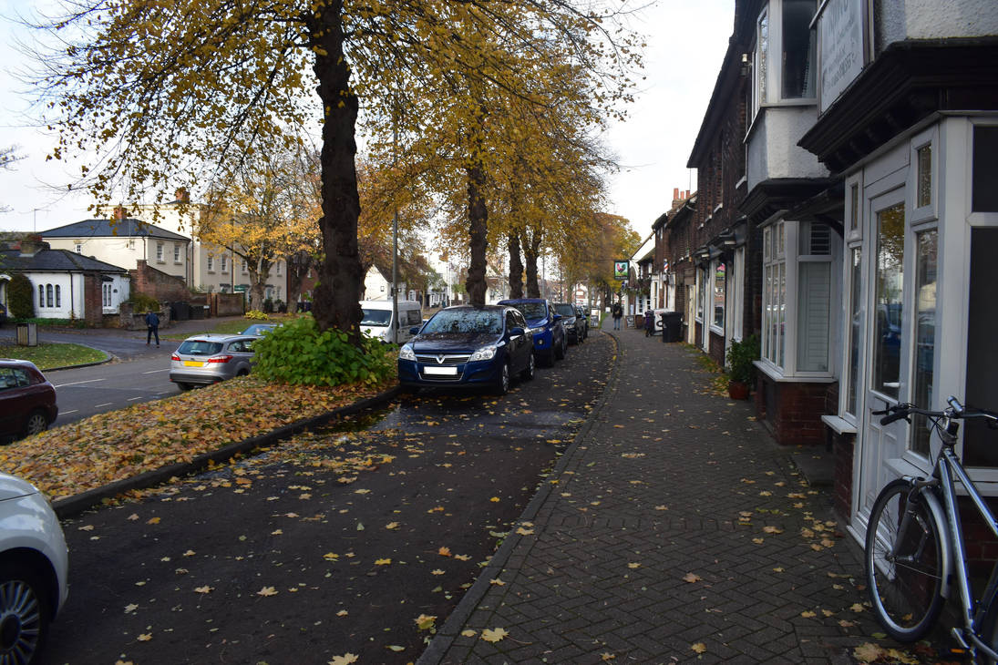 a street at autumn by g8ut