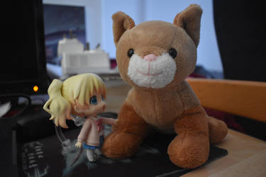 alice and the soft toy cat by g8ut