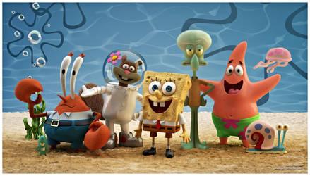 Spongebob Squarepants characters 3D by WaskoGM