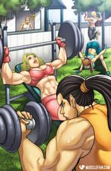 Muscle Girls Next Door by muscle-fan-comics