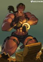 Female Muscle Growth Goddess Lara Croft by muscle-fan-comics