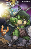 The Amazonian Tiger Queen of Lethia Strikes Back by muscle-fan-comics