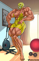 Muscle Growth Mask Magic by muscle-fan-comics