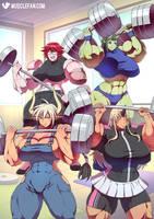 Muscular Monster Girls by muscle-fan-comics