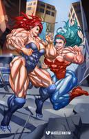 May the Best Muscle Queen Win by muscle-fan-comics