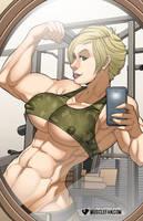 Muscular Marie-Claude Bourbonnais by muscle-fan-comics