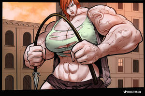 Powerful Woman Versus Pitiful Weapon by muscle-fan-comics