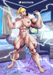 Shocking Muscle Growth by muscle-fan-comics