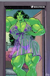 The Sensual, Sex-Starved She-Hulk! by muscle-fan-comics