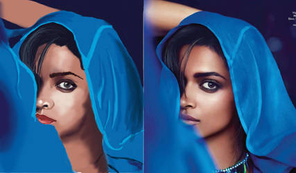 Deepika Padukone Digital Painting by Tannyboy92
