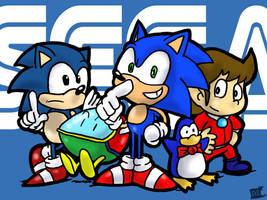 SEGA Mascots by theEyZmaster