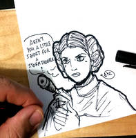 DSC 2016-12-29 RIP Carrie Fisher by theEyZmaster