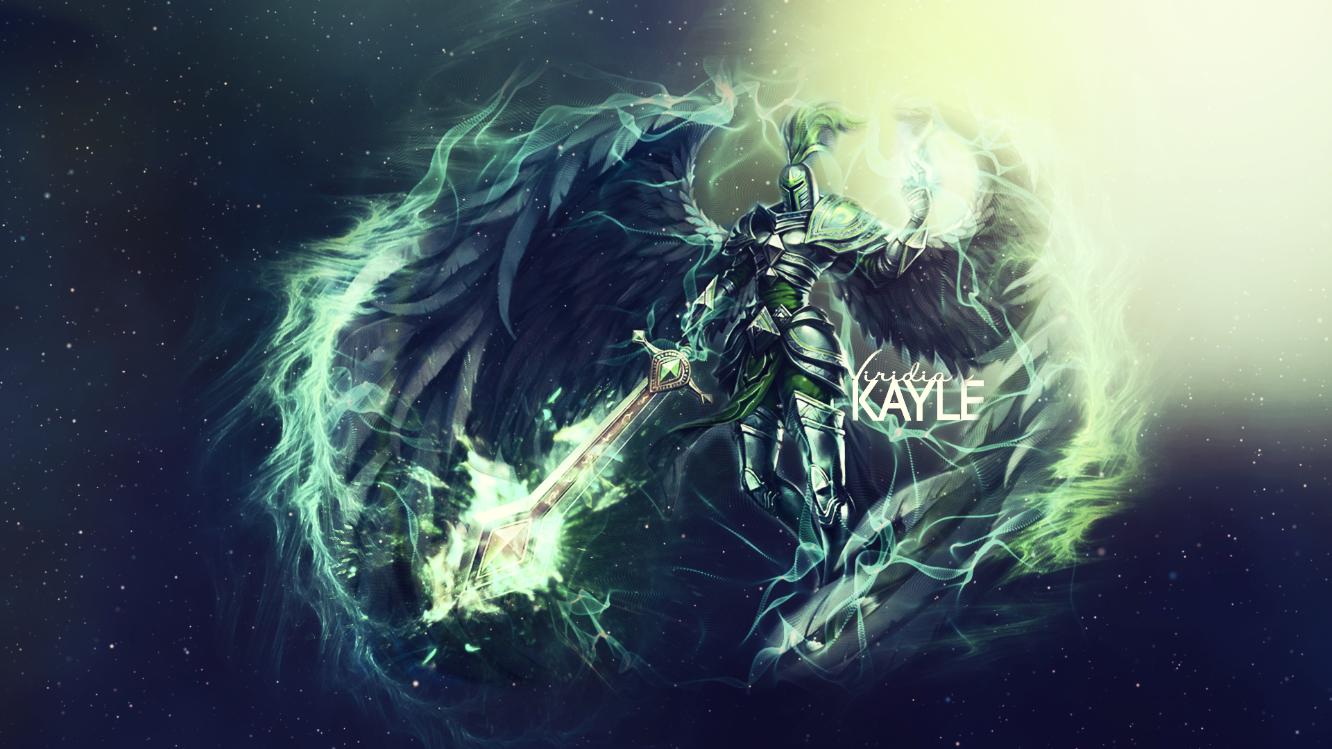 Viridian Kayle Wallpaper By Minccinofloof On Deviantart