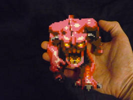 DOOM Pink Demon Mini Perler sprite by monochrome-GS