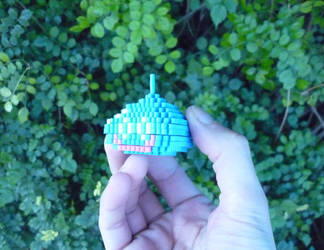 3D Mini Perler Dragon Warrior/DQ Slime by monochrome-GS