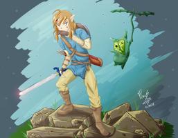 The Hero and the Korok by mrsisan