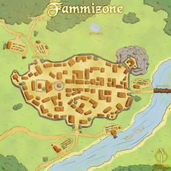 Map - Fammizone Town by mrsisan