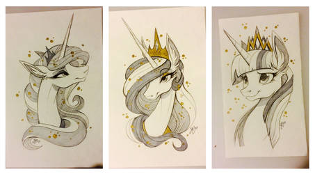 MLP Sketches - For Sale by probablyfakeblonde