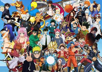 50th Anniversary of Shonen Jump by SuperSaiyanCrash