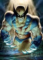 Wolverine Alone by AlexGarner
