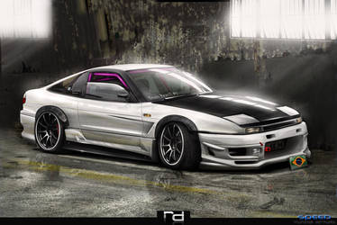Nissan Silvia S13 White by Rob3rT----Design