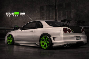 Skyline White JDM Style by Rob3rT----Design