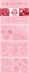 Tutorial: How To Draw Roses by lacelazier