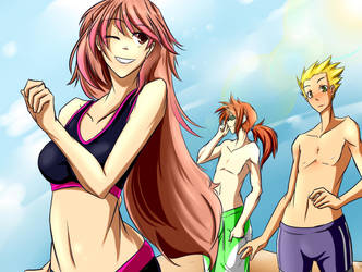 A day at the beach_Colored by kaizer33226