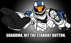 Grandma Hit the Standby Button by Axeraider70
