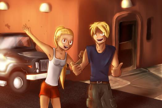 Bro and Sis by Axeraider70