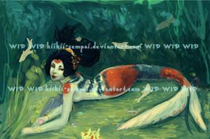 wip. koi mermaid by kiikii-sempai